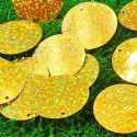 Sequins, Gold colour, 29mm, 22 pieces, 5g, Oval, Sequins are shiny, [CZP686]